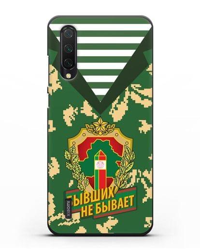 Чехол Камуфляж, тельняшка с гербом Пограничных войск РБ силикон черный для Xiaomi Mi 9 Lite