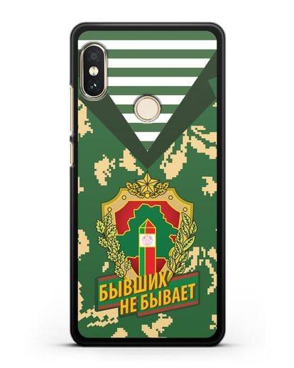 Чехол Камуфляж, тельняшка с гербом Пограничных войск РБ силикон черный для Xiaomi Mi A2 Lite