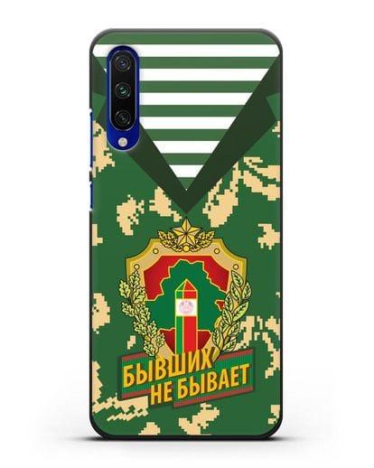 Чехол Камуфляж, тельняшка с гербом Пограничных войск РБ силикон черный для Xiaomi Mi CC9 E