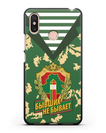 Чехол Камуфляж, тельняшка с гербом Пограничных войск РБ силикон черный для Xiaomi Mi Max 3