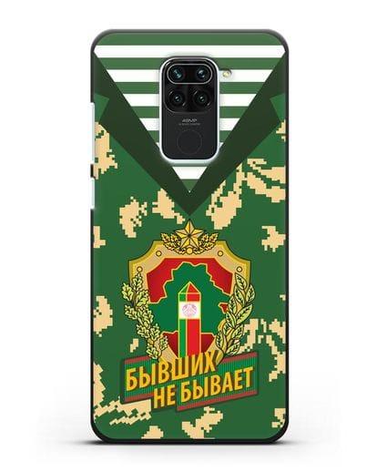 Чехол Камуфляж, тельняшка с гербом Пограничных войск РБ силикон черный для Xiaomi Redmi 10X