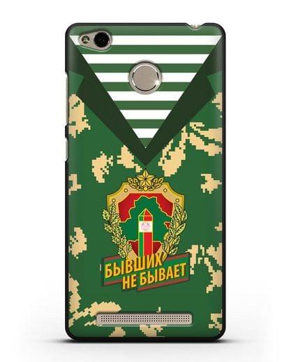 Чехол Камуфляж, тельняшка с гербом Пограничных войск РБ силикон черный для Xiaomi Redmi 3s