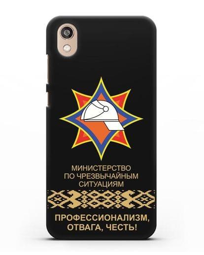 Чехол с эмблемой МЧС Республики Беларусь силикон черный для Honor 8S