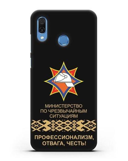 Чехол с эмблемой МЧС Республики Беларусь силикон черный для Honor Play