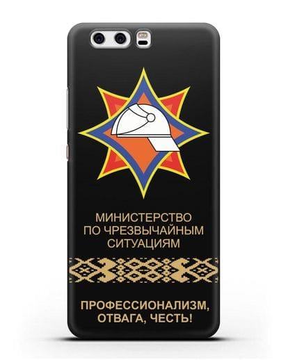 Чехол с эмблемой МЧС Республики Беларусь силикон черный для Huawei P10 Plus