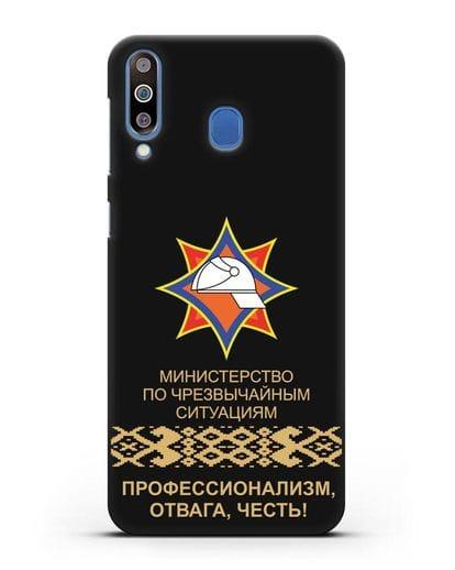 Чехол с эмблемой МЧС Республики Беларусь силикон черный для Samsung Galaxy M30 [SM-M305F]