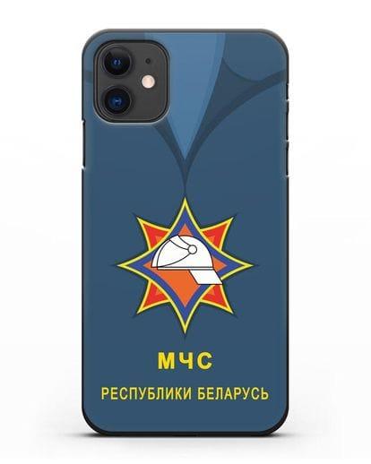 Чехол Китель с эмблемой МЧС Республики Беларусь силикон черный для iPhone 11