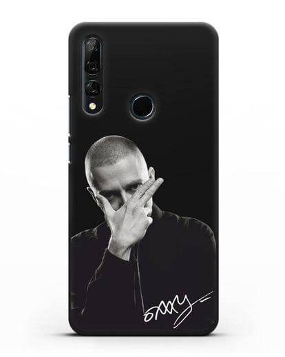 Чехол с фотографией Oxxxymiron силикон черный для Honor 9X