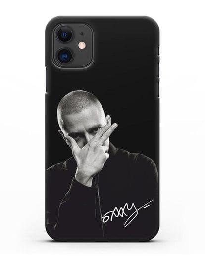 Чехол с фотографией Oxxxymiron силикон черный для iPhone 11