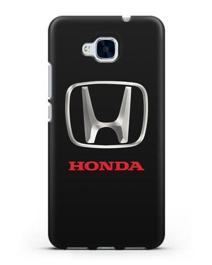 Чехол с логотипом Honda силикон черный для Honor 5C