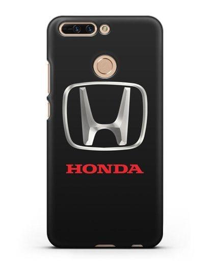 Чехол с логотипом Honda силикон черный для Honor 8 Pro
