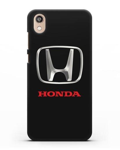 Чехол с логотипом Honda силикон черный для Honor 8S