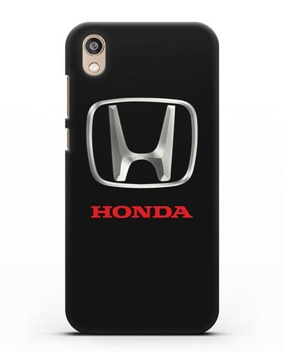 Чехол с логотипом Honda силикон черный для Honor 8S Prime