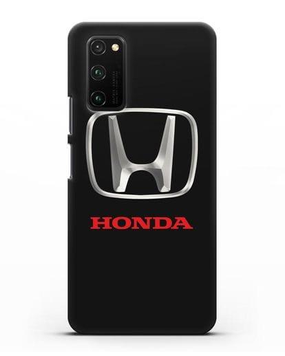 Чехол с логотипом Honda силикон черный для Honor View 30 Pro