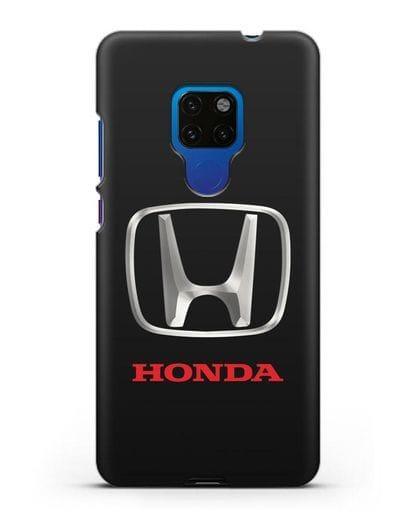 Чехол с логотипом Honda силикон черный для Huawei Mate 20