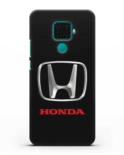 Чехол с логотипом Honda силикон черный для Huawei Mate 30 Lite