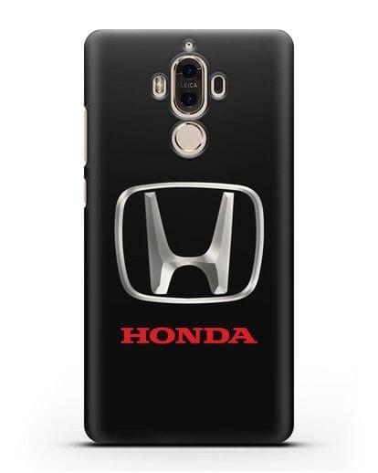 Чехол с логотипом Honda силикон черный для Huawei Mate 9