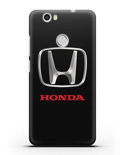 Чехол с логотипом Honda силикон черный для Huawei Nova