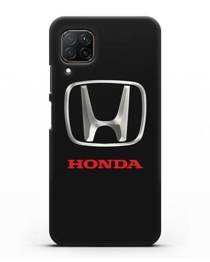 Чехол с логотипом Honda силикон черный для Huawei P40 lite
