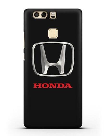 Чехол с логотипом Honda силикон черный для Huawei P9