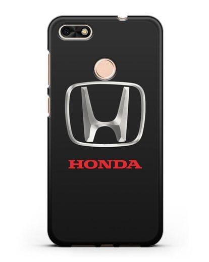 Чехол с логотипом Honda силикон черный для Huawei P9 Lite mini