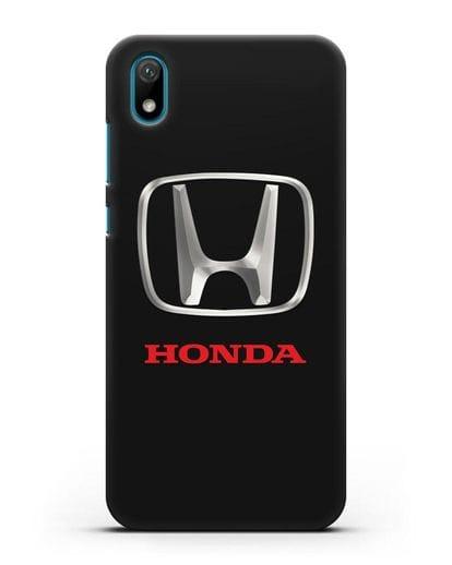 Чехол с логотипом Honda силикон черный для Huawei Y5 2019