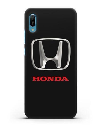 Чехол с логотипом Honda силикон черный для Huawei Y6 2019
