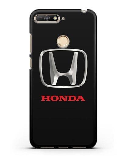 Чехол с логотипом Honda силикон черный для Huawei Y6 Prime 2018