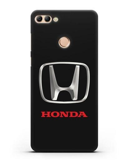 Чехол с логотипом Honda силикон черный для Huawei Y9 2018