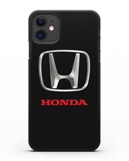 Чехол с логотипом Honda силикон черный для iPhone 11