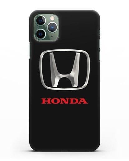 Чехол с логотипом Honda силикон черный для iPhone 11 Pro