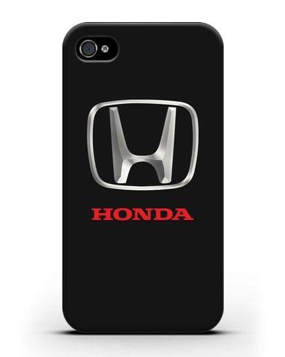 Чехол с логотипом Honda силикон черный для iPhone 4/4s