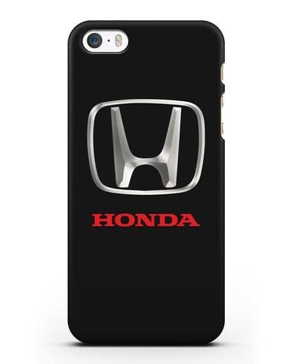 Чехол с логотипом Honda силикон черный для iPhone 5/5s/SE