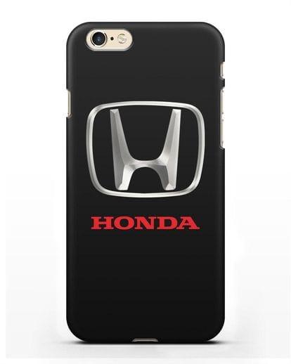 Чехол с логотипом Honda силикон черный для iPhone 6