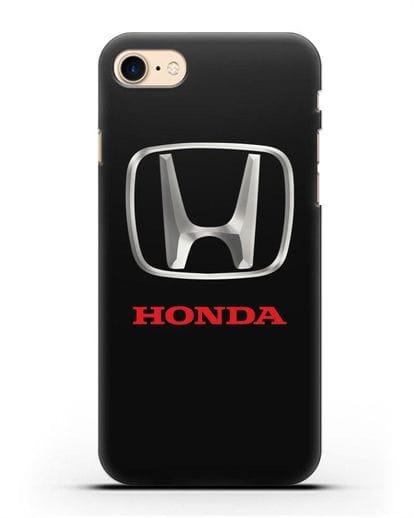 Чехол с логотипом Honda силикон черный для iPhone SE 2020