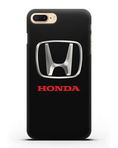 Чехол с логотипом Honda силикон черный для iPhone 8 Plus