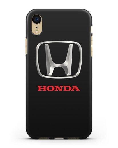 Чехол с логотипом Honda силикон черный для iPhone XR