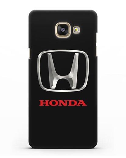 Чехол с логотипом Honda силикон черный для Samsung Galaxy A7 2016 [SM-A710F]