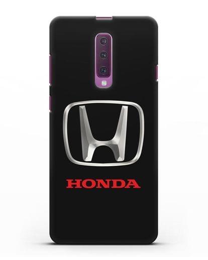 Чехол с логотипом Honda силикон черный для Samsung Galaxy A90 [SM-A908N]