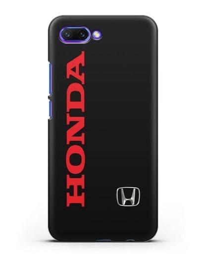Чехол с надписью Honda и логотипом силикон черный для Honor 10
