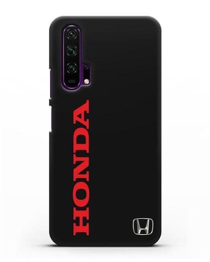 Чехол с надписью Honda и логотипом силикон черный для Honor 20 Pro