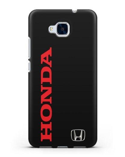 Чехол с надписью Honda и логотипом силикон черный для Honor 5C