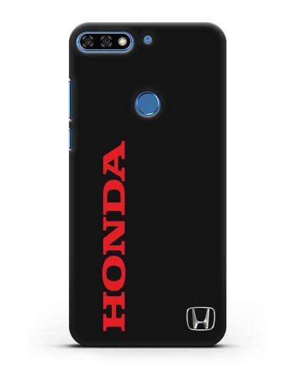 Чехол с надписью Honda и логотипом силикон черный для Honor 7C Pro