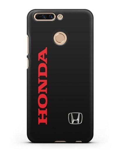 Чехол с надписью Honda и логотипом силикон черный для Honor 8 Pro