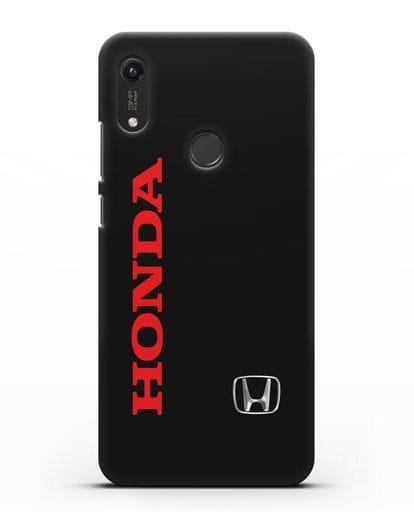 Чехол с надписью Honda и логотипом силикон черный для Honor 8A Prime