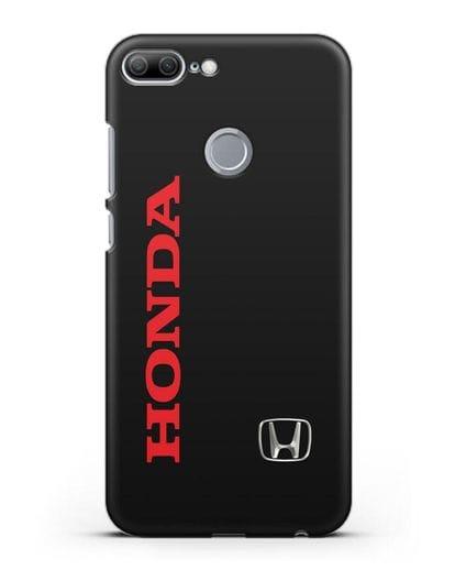 Чехол с надписью Honda и логотипом силикон черный для Honor 9 Lite