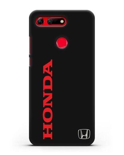 Чехол с надписью Honda и логотипом силикон черный для Honor View 20