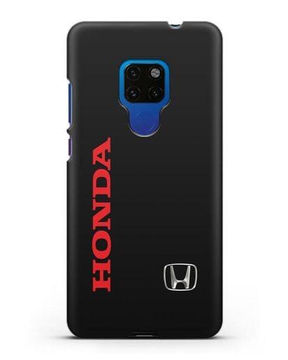 Чехол с надписью Honda и логотипом силикон черный для Huawei Mate 20