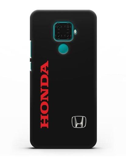 Чехол с надписью Honda и логотипом силикон черный для Huawei Mate 30 Lite