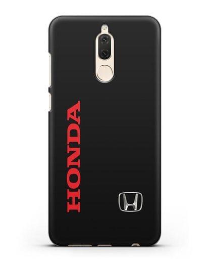 Чехол с надписью Honda и логотипом силикон черный для Huawei Nova 2